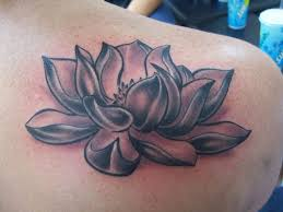 small tribal lotus tattoo for shoulder photos pictures and