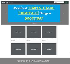 membuat website bootstrap membuat template blog home page profesional menggunakan bootstrap