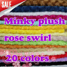 aliexpress buy rosette swirl minky fabric cuddle velboa