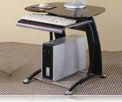Mini Computer Desk Mini Computer Desk In Black And Chrome Computer Desks Coaster 800235