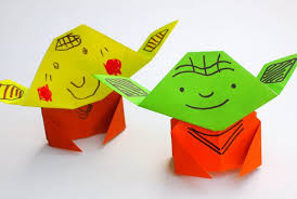 easy origami yoda tutorial pink stripey socks