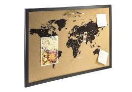 Cork World Map by Cork Pinboard World Map Black 60 X 40cm Cork Pinboard Pinboard
