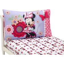 Toddler Minnie Mouse Bed Set Disney Minnie Mouse Bow Power 4 Piece Toddler Bedding Collection