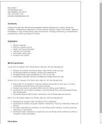 Receptionist Resume Example by Marvelous Optometrist Receptionist Resume 32 In Professional