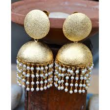 jumka earrings bold gold matte jhumka earrings