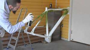 bike frame repaint pt 3 first primary color layer 1 of 2 youtube
