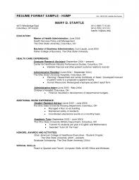 Standard Resume Standard Resume Format In Canada Resume Template Example