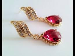 trendy gold earrings trendy gold ruby earrings designs ruby earrings and necklace