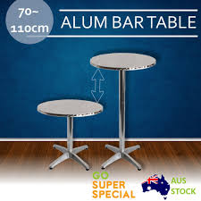 Aluminium Bar Table Aluminium Round Bar Table Adjustable Height Round Cafe Bar Indoor