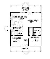 two bed room house i like the open floor plan but it would need another bedroom and a