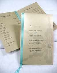 Printed Wedding Programs Add A Satin Ribbon Rhinestone Or Pearl To Your Professionally