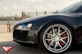 Audi R8 Silver - 2015 audi r8 on fr2 machine silver ferrada wheels