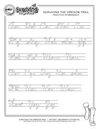 practice cursive writing work sheet extra large 2 surviving