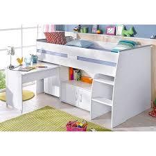 bureau avec rangement intégré lit plateforme mi haut avec bureau et rangement intégrés 1 personne
