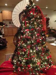 decorated christmas trees with ribbon pictures reference