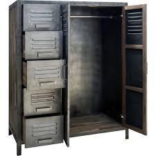 armoire metallique chambre armoire métal 110 x 145 cm besi inwood achat vente armoire de