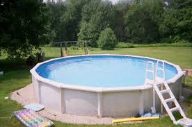 Backyard Swimming Pool Designs by Pool Swimming Pool Idea Come With Above Ground White Fiber Pool