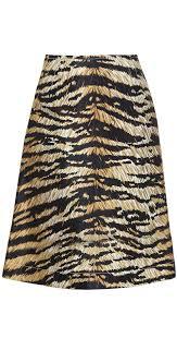 toxic tiger print skirt
