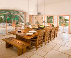harvest table with banquet table dining room transitional and