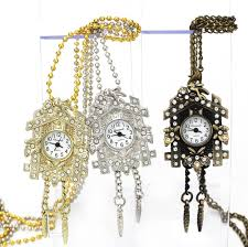 crystal design necklace images Cuckoo bird house crystal design pendant pocket watch jpg