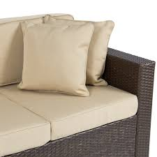 Patio Furniture In Ontario Ca by Outdoor Wicker Patio Furniture Sofa 3 Seater Luxury Comfort Brown