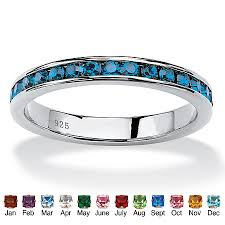stackable birthstone rings birthstone stackable eternity band in sterling silver at palmbeach
