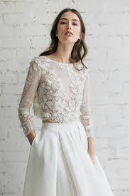 wedding top lace top bridal separates top long by jurgitabridal