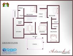 best single house plans best 1600 square four bed room house plan architecture kerala