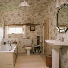 Toile Bathroom Wallpaper by Bathroom Wallpapers Ideal Home
