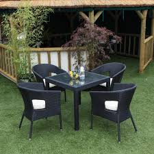 B Q Rattan Garden Furniture Hartman Beaumont 4 Seater Round Set Garden Furniture 4 Seater