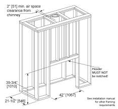 Standard Fireplace Dimensions by Villawood Outdoor Wood Fireplace Heatilator