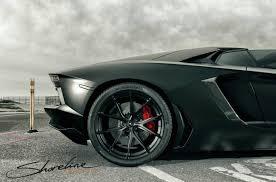 Lamborghini Aventador Matte Black - this matte black aventador roadster is ready to go on a poster