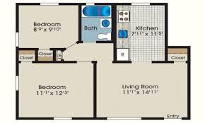 floor plan for 1 bedroom house 8 cottage house plan with 600 square feet and 1 bedroom from dream