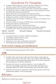 geneticist cv template tips and download cv plaza