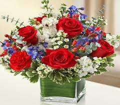 white and blue floral arrangements white and blue cube in princeton plainsboro trenton nj