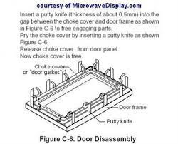 oven light cover stuck panasonic microwave door stuck questions answers with pictures