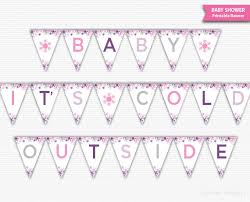 baby shower banner baby it s cold outside banner baby shower banner printable girl
