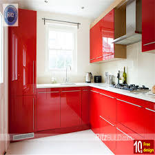 Ritz Lacquer Kitchen Cabinets American Modular Kitchen Designs - Red lacquer kitchen cabinets