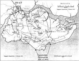 Map Of Singapore Singapore Ww2 British Tropical Debacle