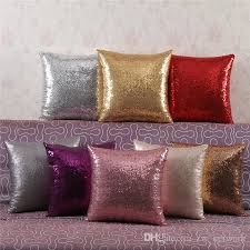 Patio Pillow Covers Dhl Mermaid Sequin Pillow 2017 New Magical Color Changing Throw