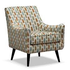 Occasional Armchairs Design Ideas Funiture Patterned Club Chair With Brown Wooden Legs For