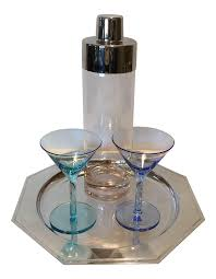 vintage martini shaker vintage martini shaker with 2 glasses u0026 silver plated tray set