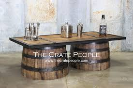 repurposed up cycled whiskey barrel coffee table 100 yr