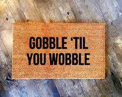 thanksgiving doormat thankful painted