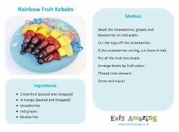 rainbow fruit skewers eats amazing