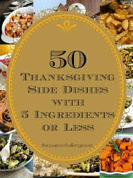 50 thanksgiving side dishes with 5 ingredients or less to