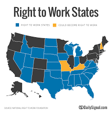 World Of Work Map by Election Ushers In States Preparing For Right To Work Laws