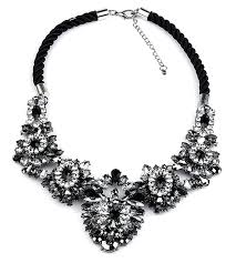 black necklace with crystal images Download black and white statement necklace jpg