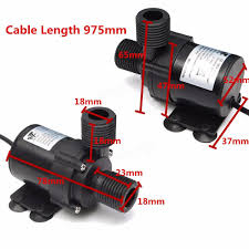 automotive electric water pump dc 12v brushless motor electric mini submersible water pump ultra