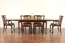 sold kittinger signed vintage georgian mahogany dining table